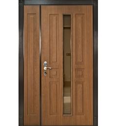Дверь двустворчатая металлическая входная МДФ 17